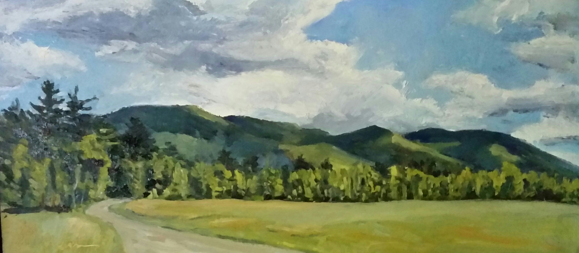 The Jay Range 12x24in oil by Michael  Gaudreau