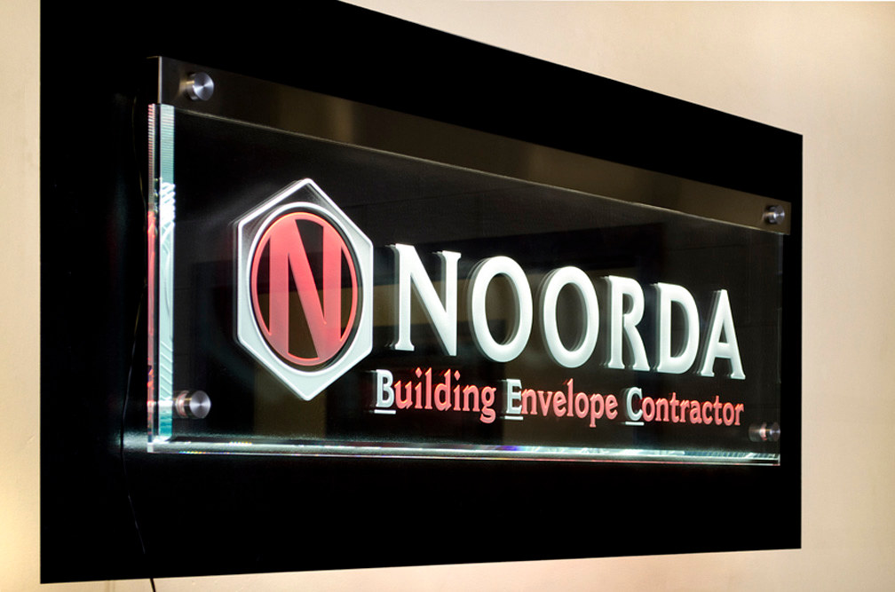 Noorda Lobby sign by Dan Cummings