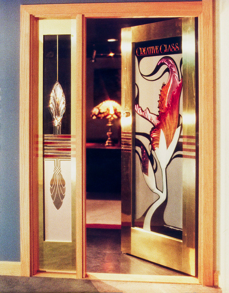Painting Creative Glass Door by Dan Cummings