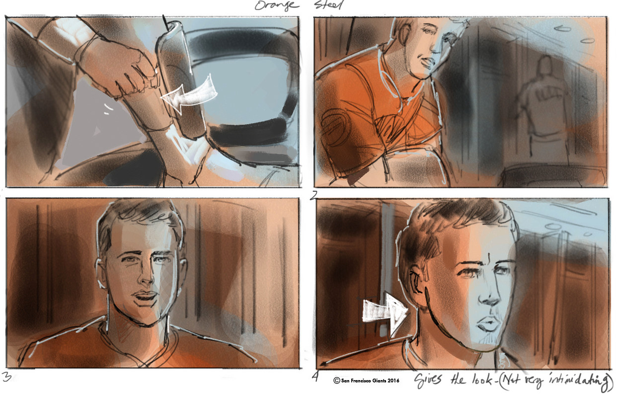 The SF Giants - Buster Posey- 'Orange steel'. View this and other final spots on Giants website by Allen Wittert