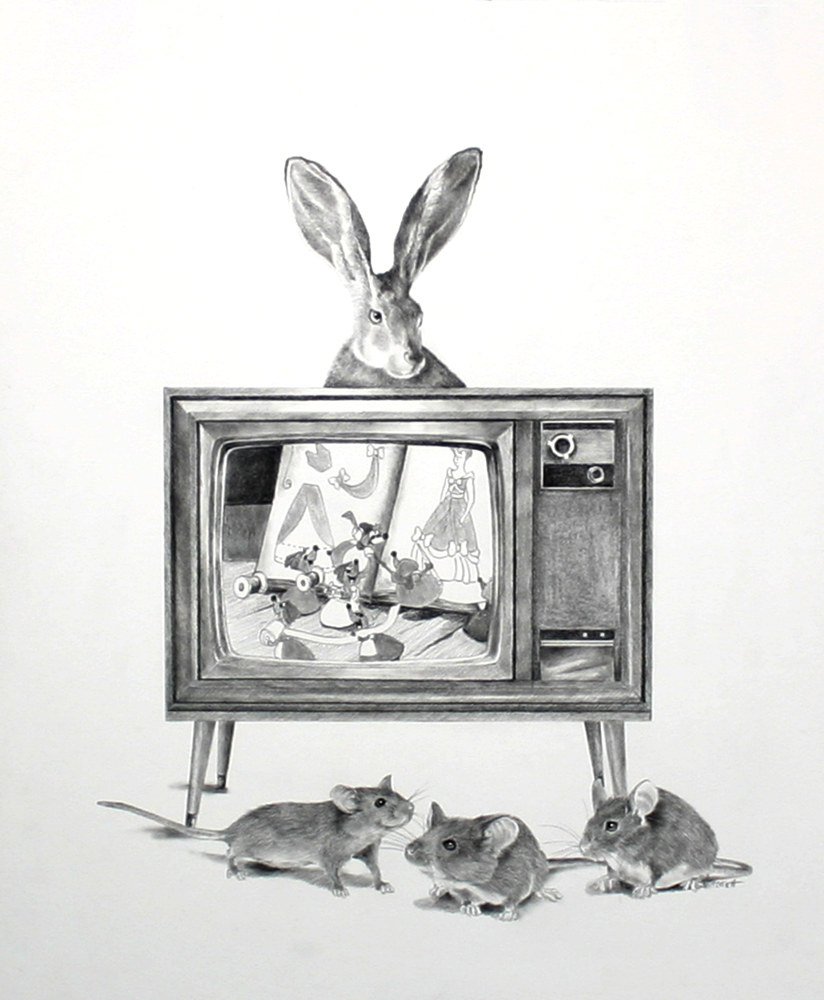 Drawing Rabbit Ears by Ellen Cornett