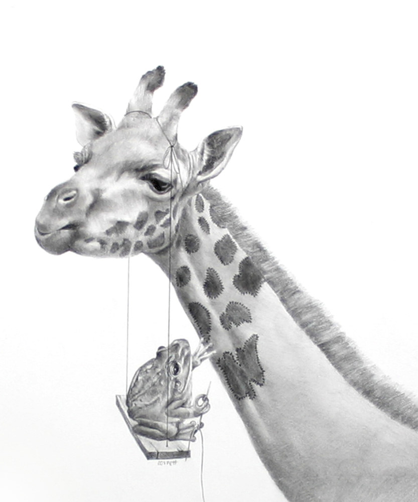 Drawing Giraffe and Frog by Ellen Cornett