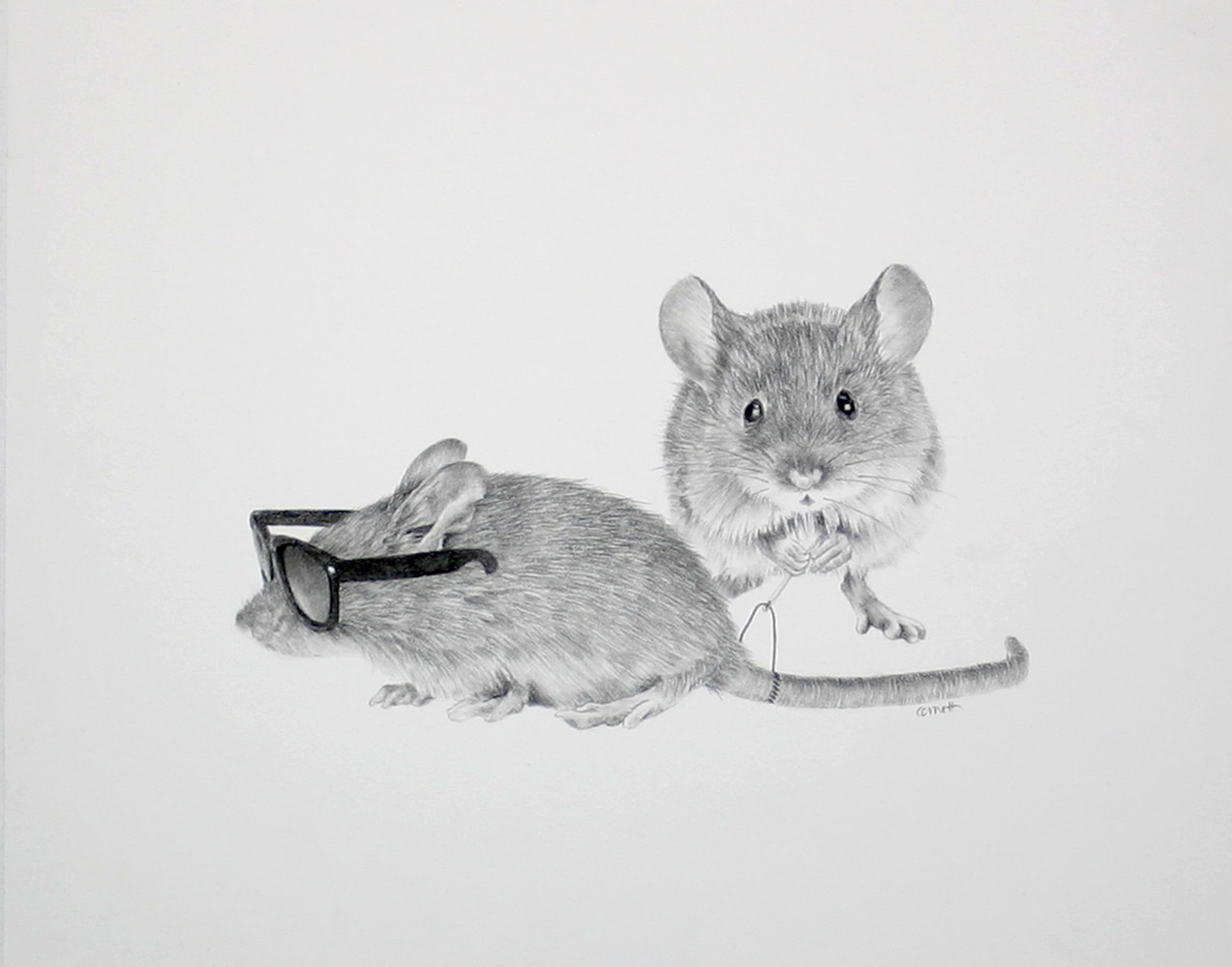 Drawing The Third Blind Mouse by Ellen Cornett