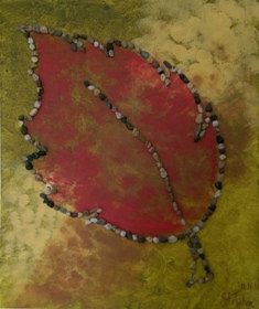 Mixed-media artwork Autumn by Jen Fisher