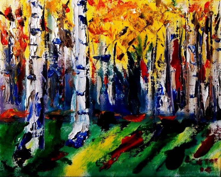 aspen abstraction by Larry Carter