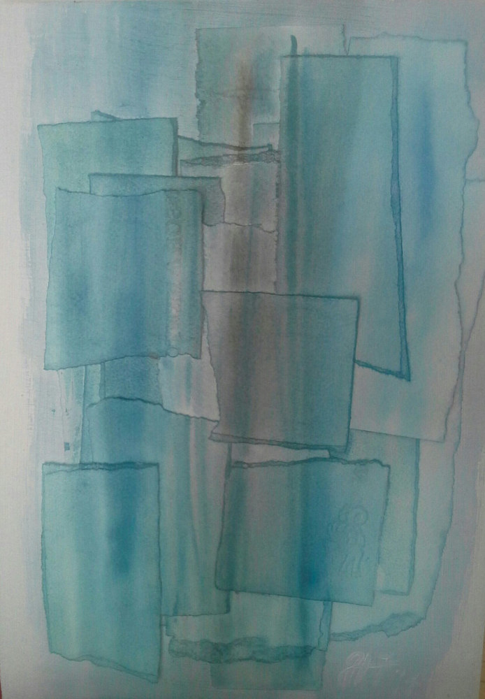 Watercolor Blues by Jen Fisher