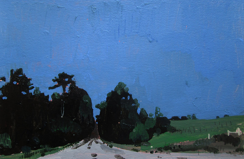 Acrylic painting Evening Cool, Near Bobby's  by Harry Stooshinoff