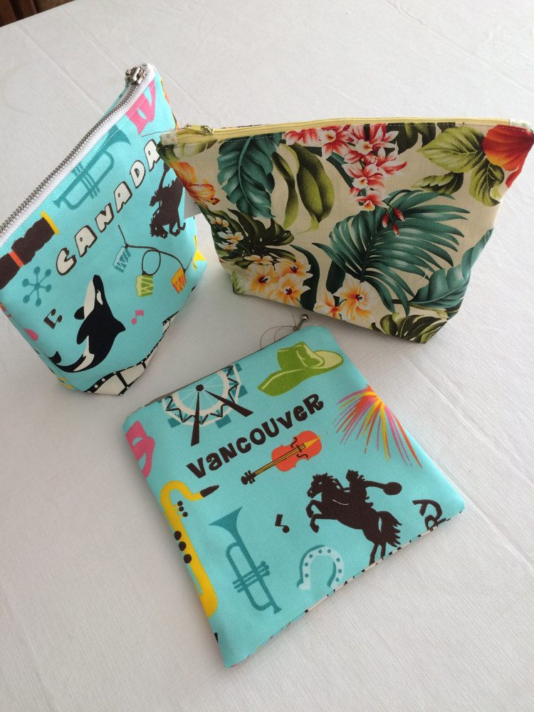 Zippered Pouches by Vicki Allesia