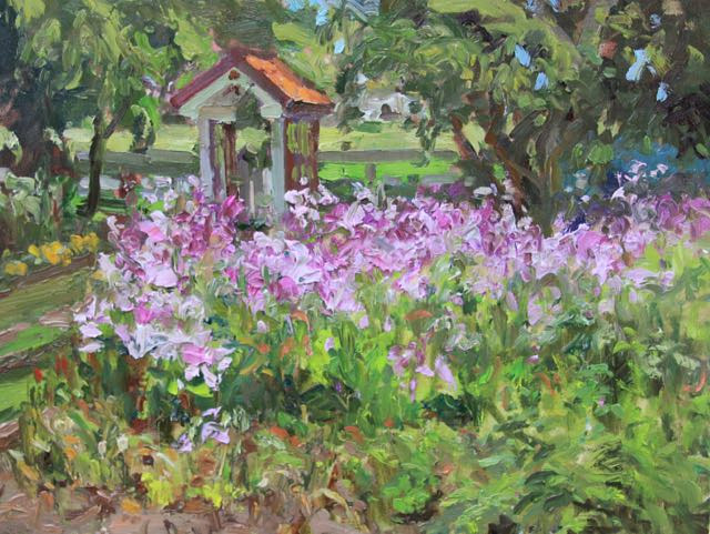 Oil painting June's Garden by Susette Gertsch