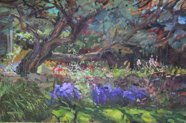 Oil painting Wildwood Garden by Susette Gertsch