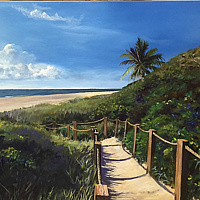 Oil painting Boca Raton, Florida by Elizabeth4361 Medeiros