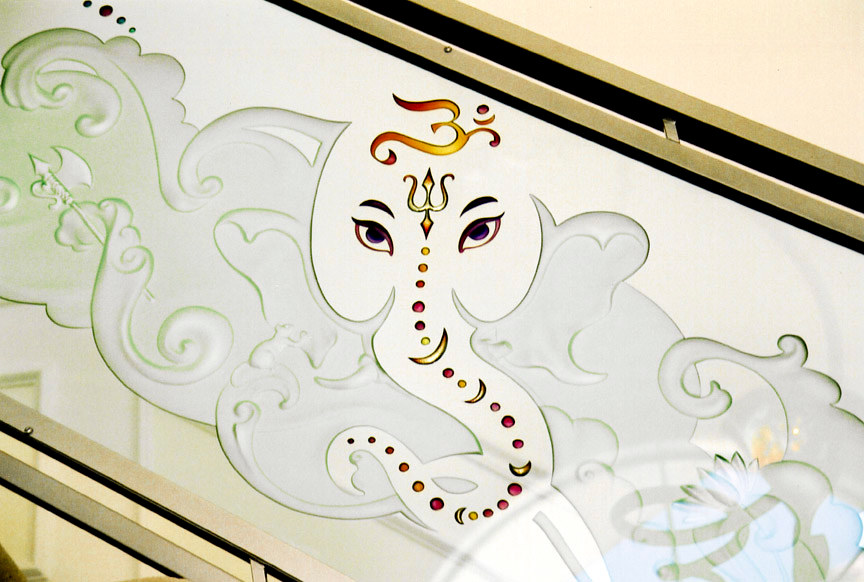 Painting Ganesh by Dan Cummings