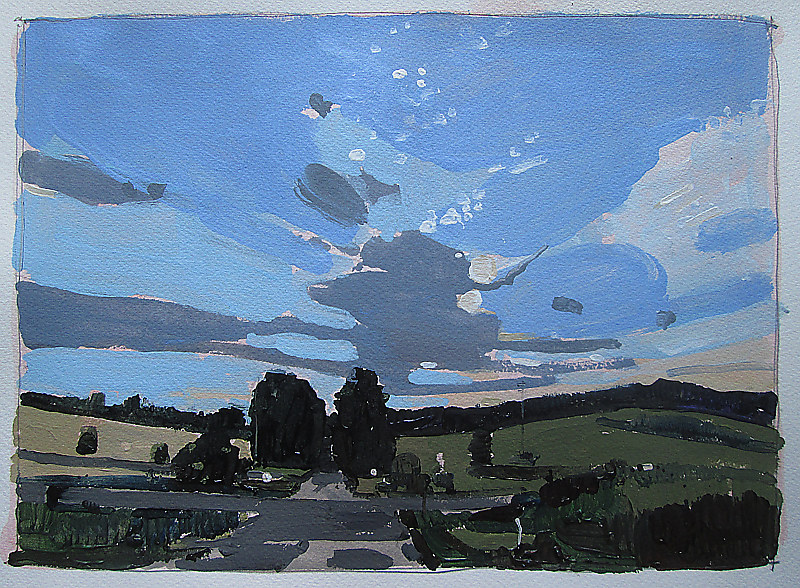 Acrylic painting Home Sky by Harry Stooshinoff