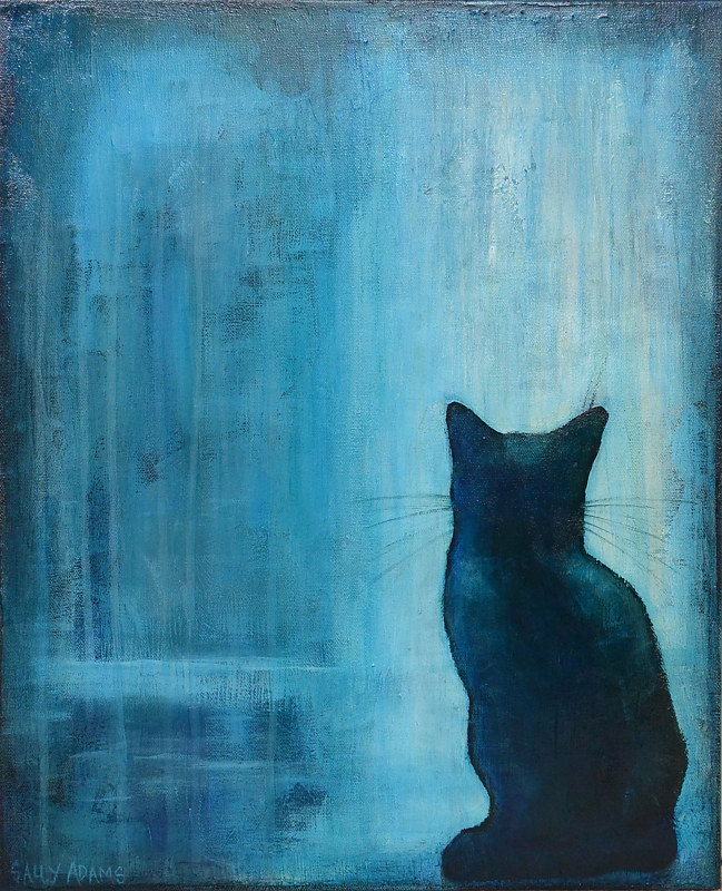 Acrylic painting Blue by Sally Adams