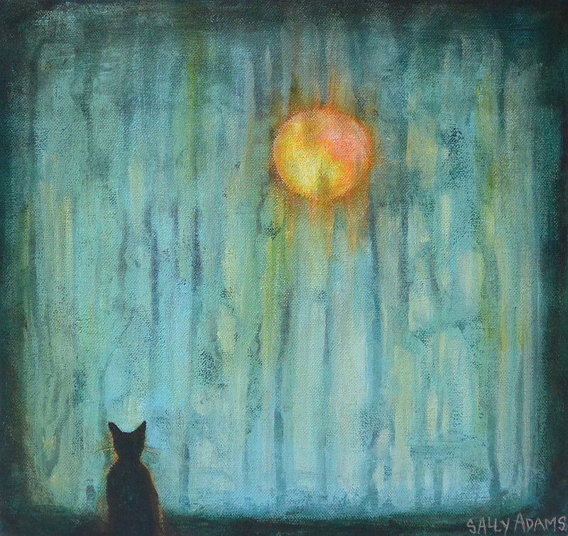 Acrylic painting Fireball Spector by Sally Adams
