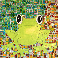 Acrylic painting Tree Frog by Donna Howard