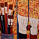 Acrylic painting My paintbrushes Talk About Me by Donna Howard