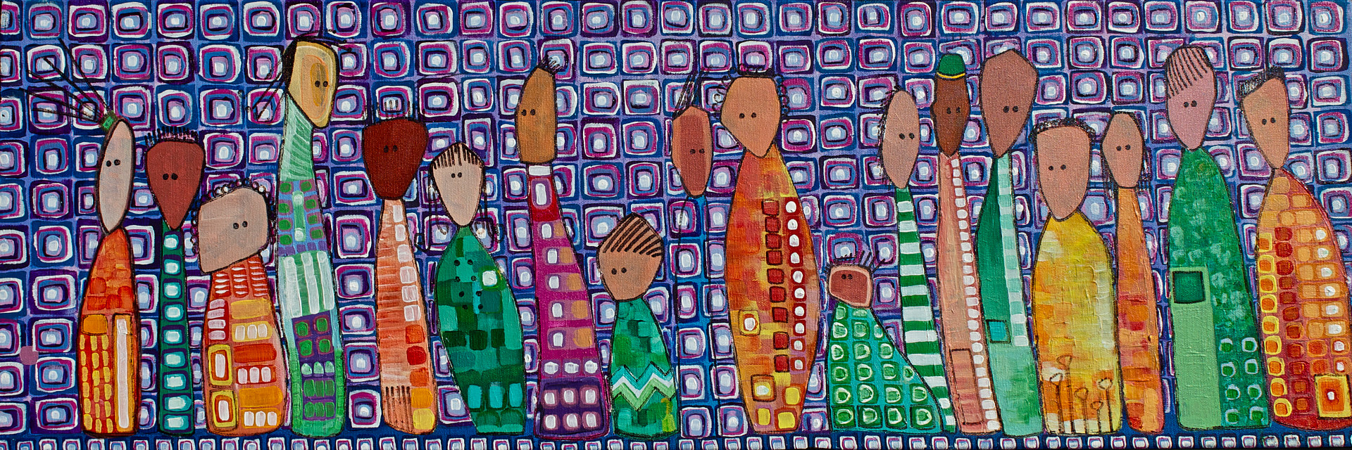 Acrylic painting Diversity by Donna Howard
