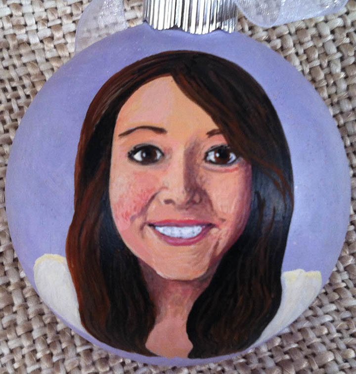 Painting Portrait Ornament by Susan Lynch