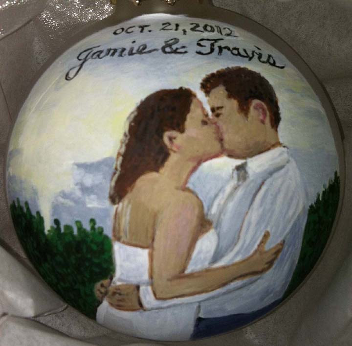 Painting Couple Ornament by Susan Lynch