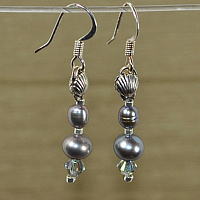 Silver Pearl Teardrops by Sue Ellen Brown