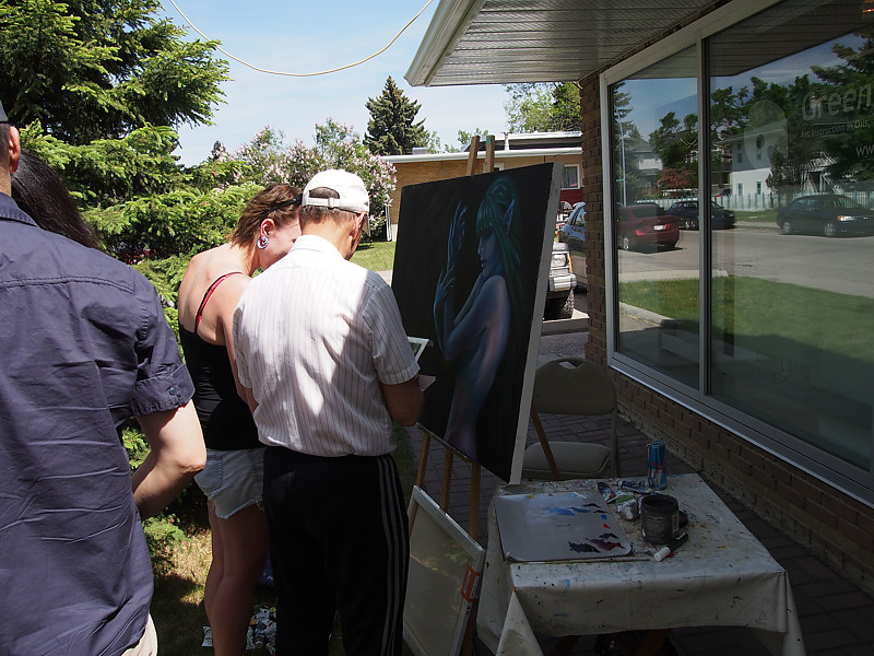 Alex Painting outside by Brent Ciccone