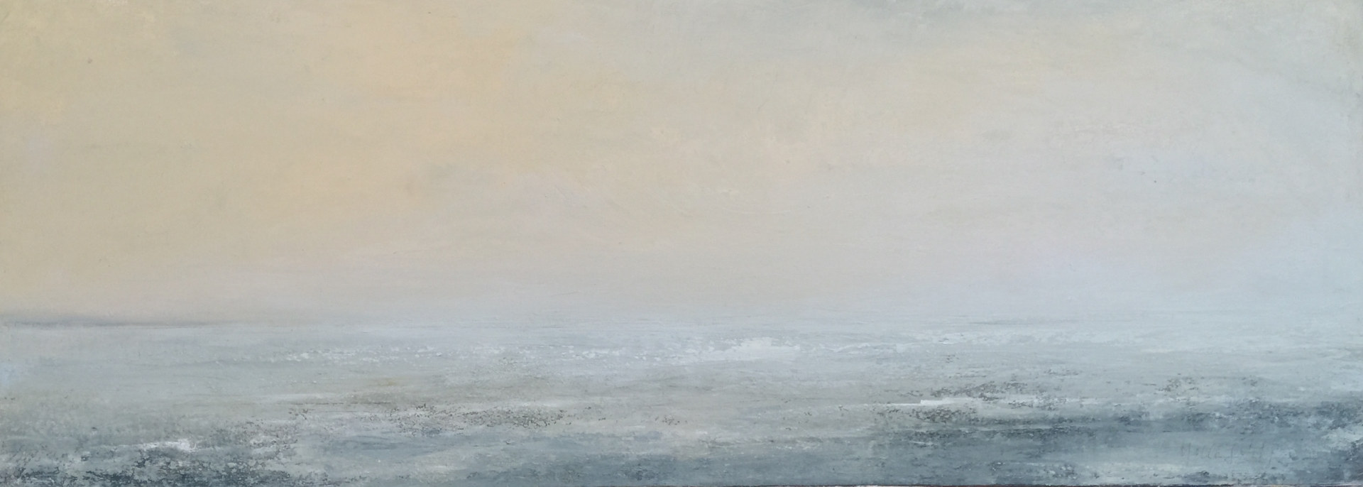 Oil painting  Passing Fog  by Nella Lush