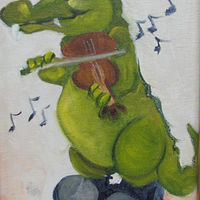 Oil painting  Gator Fiddler by Barbara Haviland