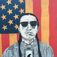 Acrylic painting Bobby by Stuart  Sampson