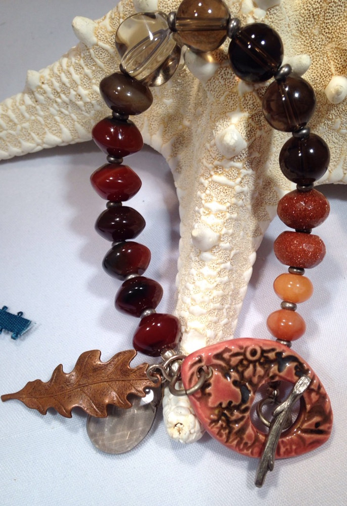 ceramic A Touch of Fall Bracelet by Renee Hennessy