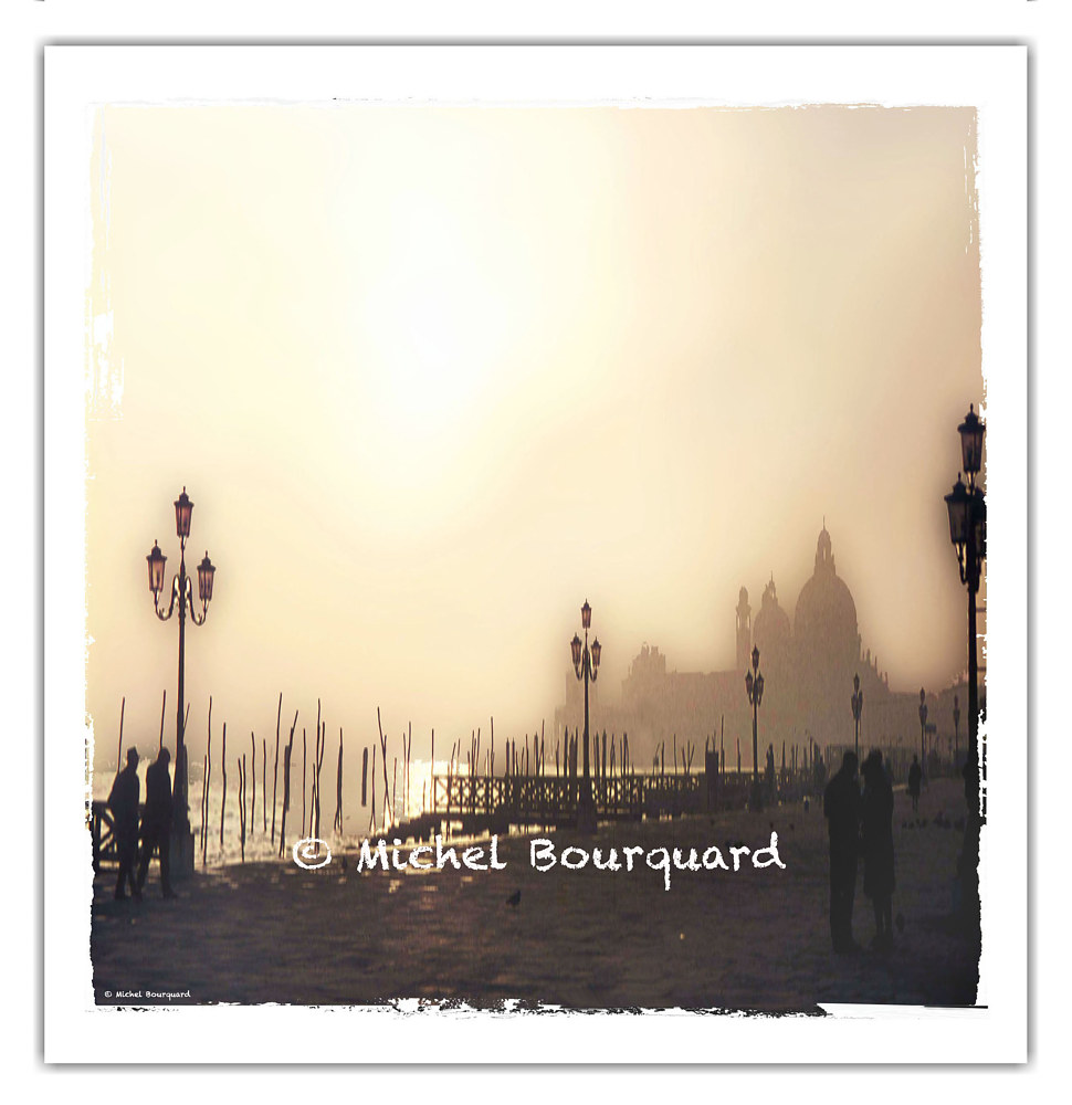 Venezia on a Foggy Christmas day 1968 by Michel Bourquard