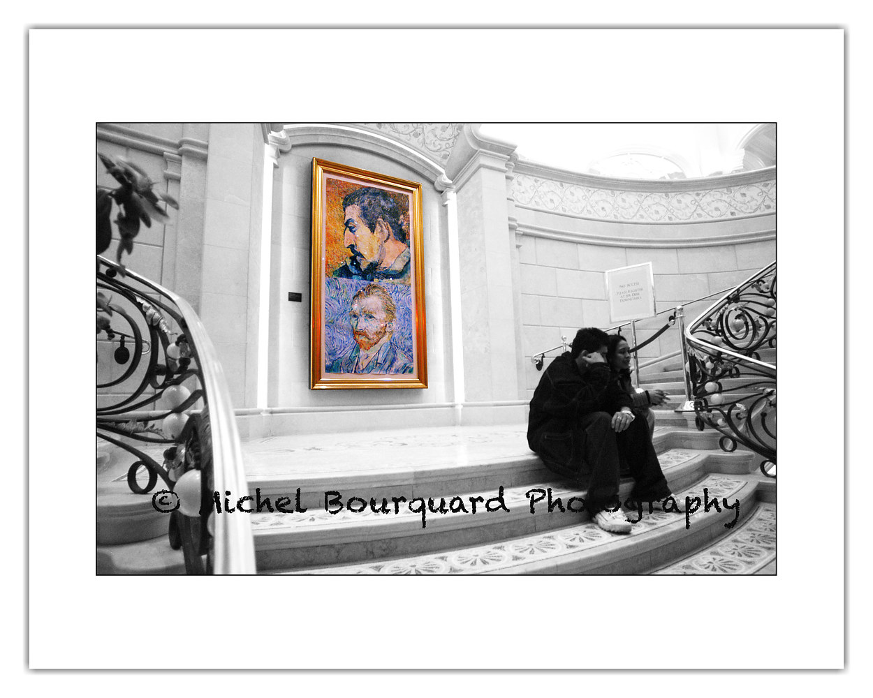 Waiting for Van Gogh's Inspiration in a Staircase by Michel Bourquard
