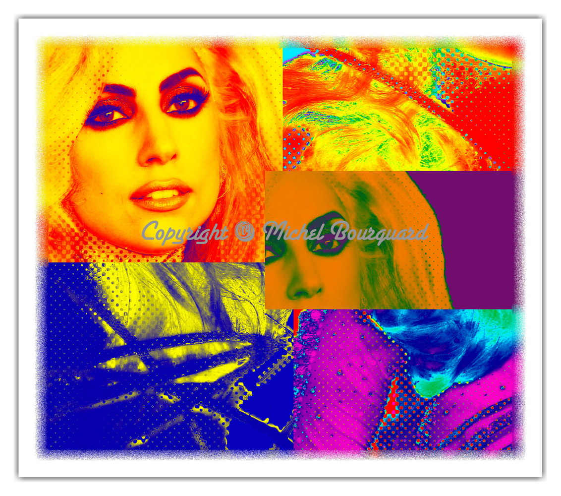 Lady Gaga bright look by Michel Bourquard