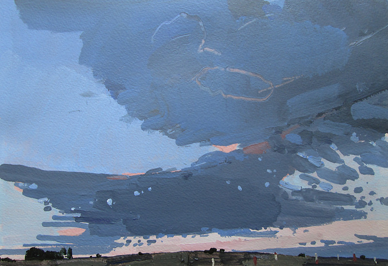 Acrylic painting East Sky at Dusk by Harry Stooshinoff