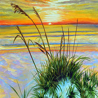Oil painting Sea Oats by Richard Ficker