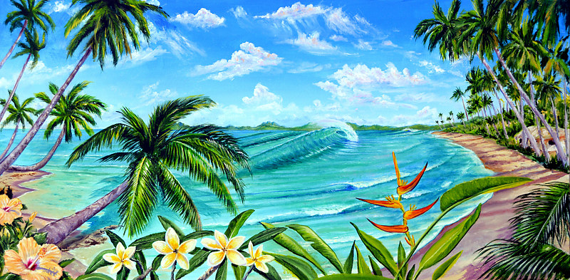 Oil painting Tropical Daydream by Richard Ficker