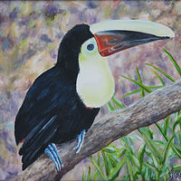 Oil painting Toucan by Richard Ficker
