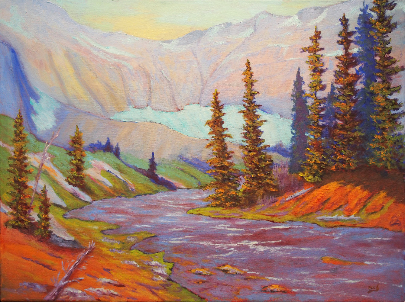 Oil painting Upper Kananaskis by Brent Ciccone