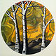 Yellow Sunset  - Painting on Vinyl Record by Mr Mizu by Isaac Carpenter
