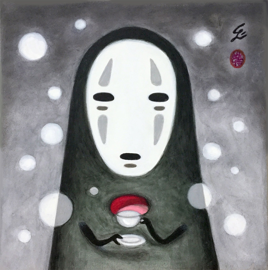 Acrylic painting Tea Time by Carolina Seth