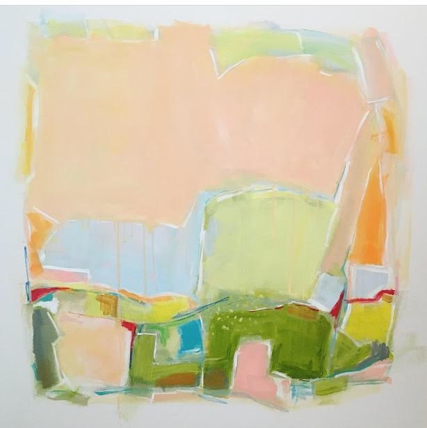 Acrylic painting Shapes of Spring by Sarah Trundle