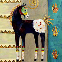 Acrylic painting Spirit Horse by Cathy Crain