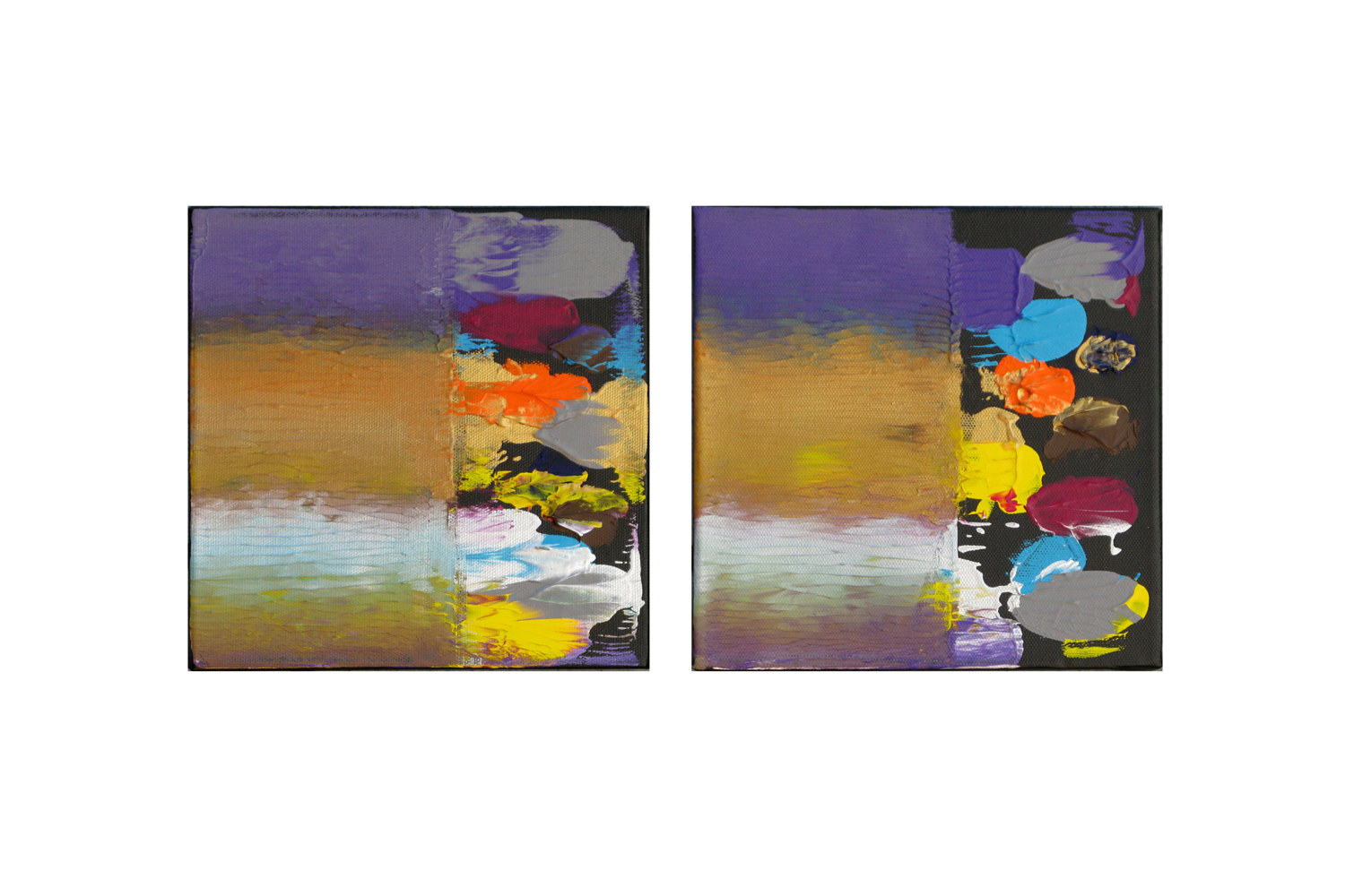 Acrylic painting Color  Storm Forecast, 8x8 inches each by Hooshang Khorasani