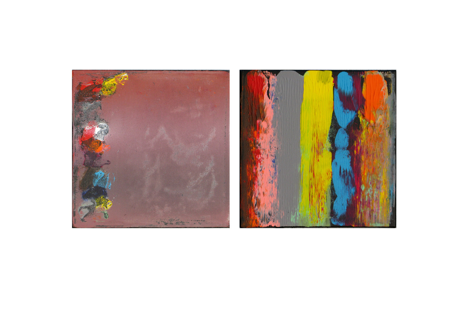 Acrylic painting Color Storm Contrast II, 8x8 inches each by Hooshang Khorasani