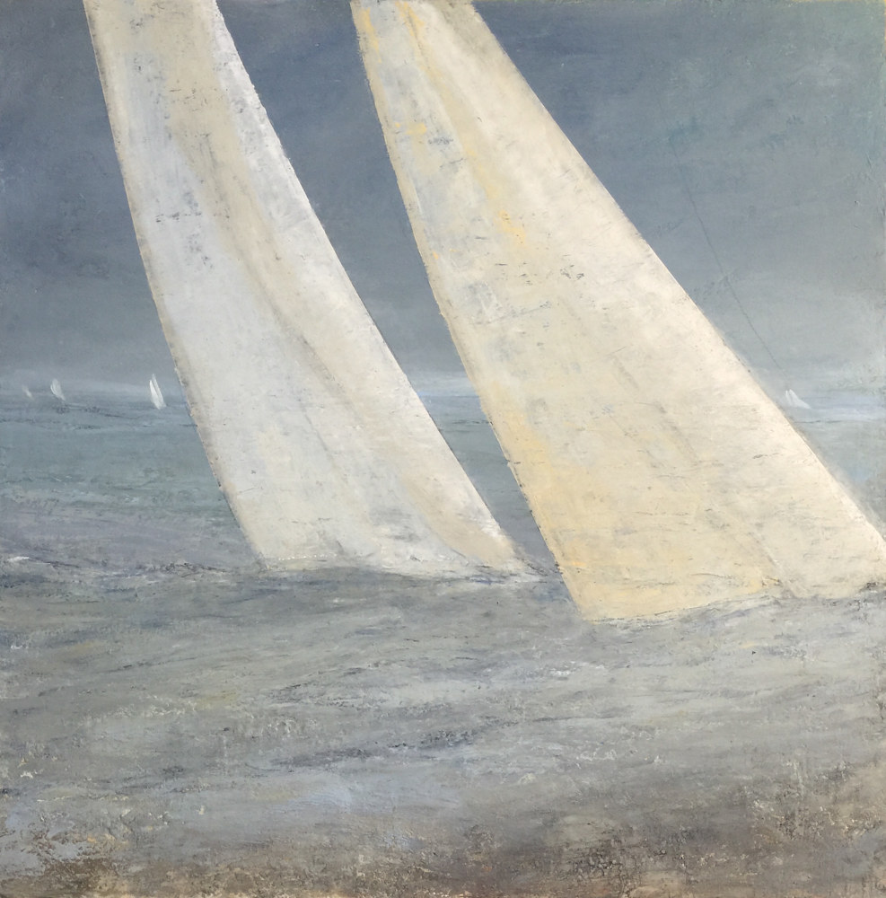 Oil painting SOLD/The Reach @ Thomas Henry gallery Nantucket by Nella Lush