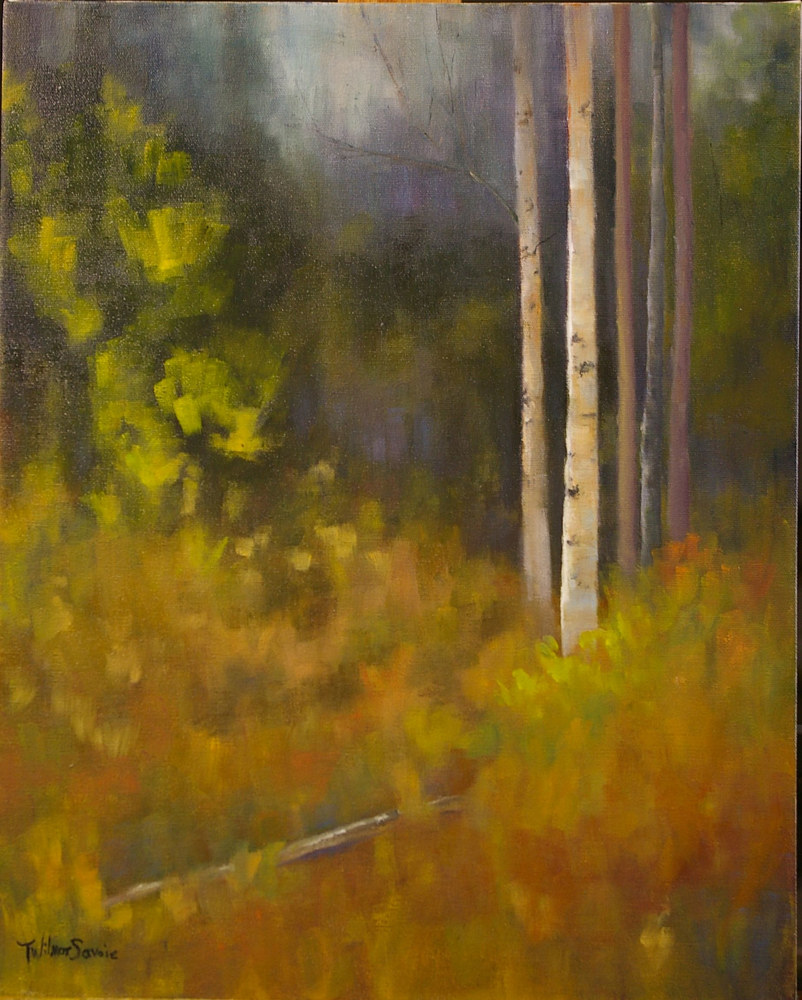 A Hushed Beckoning, 20 x 16, oil on canvas,     30.1009 by Patricia Savoie