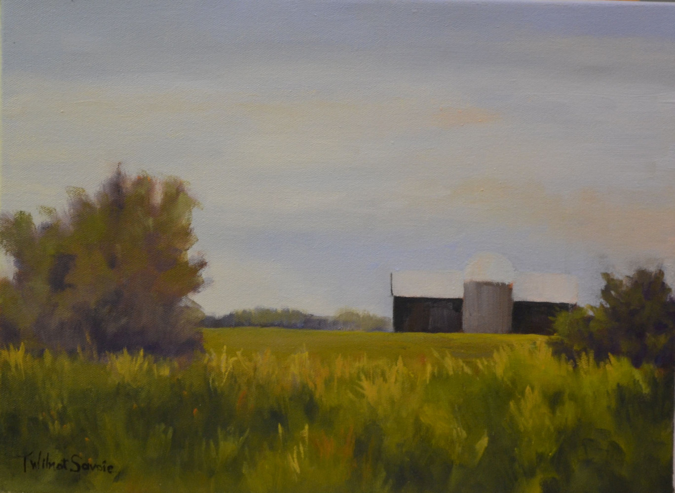 Still Standing - oil on canvas 12 x 16  13-0616 by Patricia Savoie
