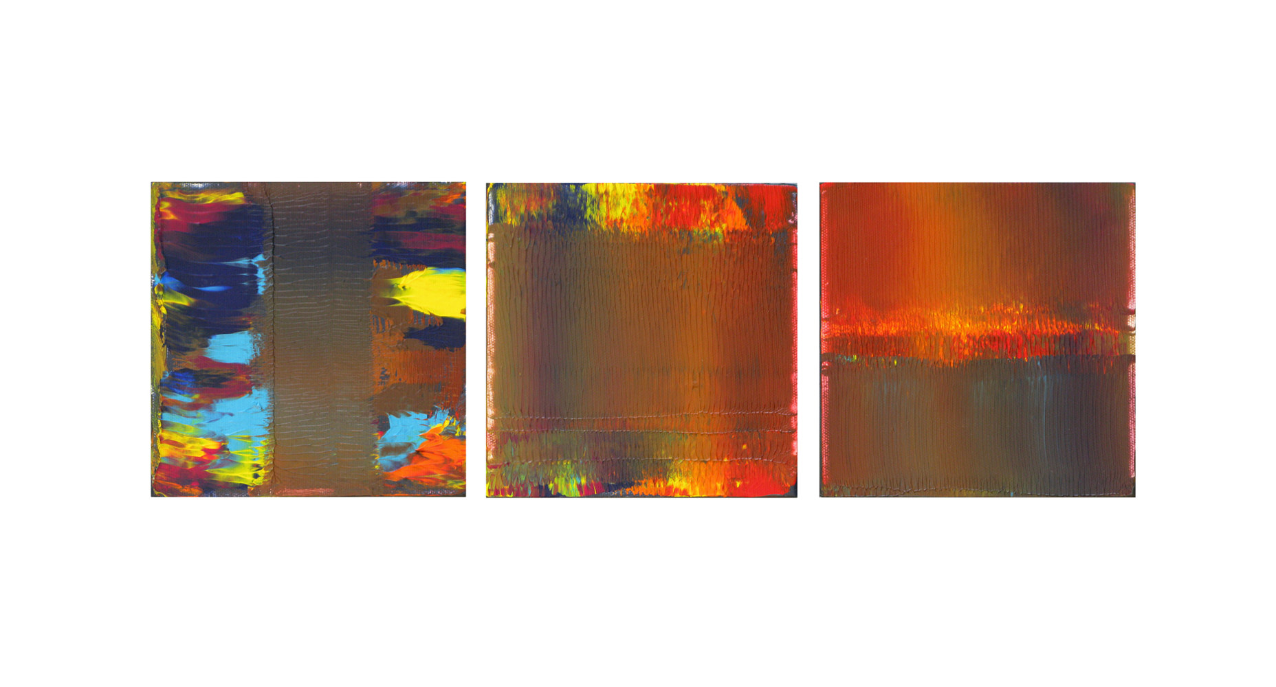 Acrylic painting Deep Sunset, 6x6 inches each by Hooshang Khorasani