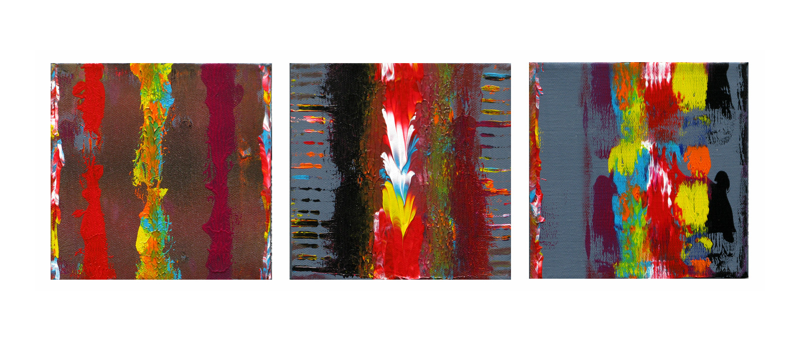 Acrylic painting Unchained Harmony, 6x6 inches each by Hooshang Khorasani