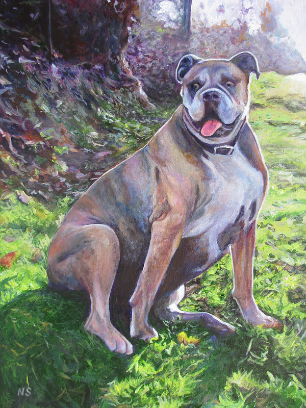 Painting Big Dog by Nancy Sharp